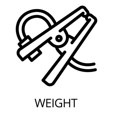 Welder weight icon. Outline welder weight icon for web design isolated on white background