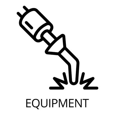 Welding equipment icon. Outline welding equipment icon for web design isolated on white background