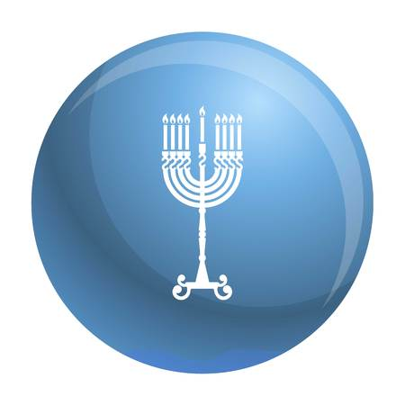 Hanukkah candle stand icon. Simple illustration of hanukkah candle stand icon for web design isolated on white background Stock Photo