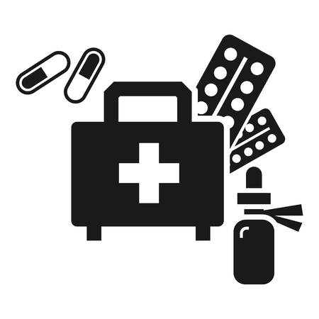 Homeless first aid kit icon. Simple illustration of homeless first aid kit icon for web design isolated on white background