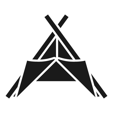 Tribal tent icon. Simple illustration of tribal tent icon for web design isolated on white background