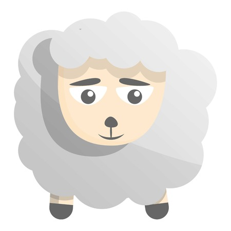 Sad sheep icon. Cartoon of sad sheep icon for web design isolated on white background Imagens
