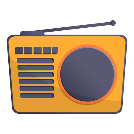 Radio antenna icon. Cartoon of radio antenna icon for web design isolated on white background