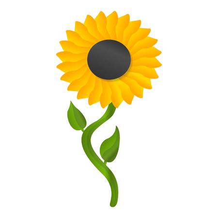 Sunflower icon. Cartoon of sunflower icon for web design isolated on white background 写真素材