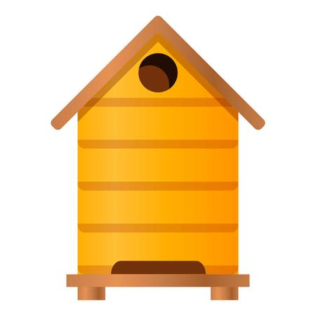 Beehive icon. Cartoon of beehive icon for web design isolated on white background