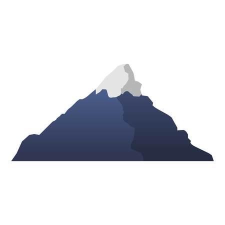 Mountain icon. Cartoon of mountain icon for web design isolated on white background