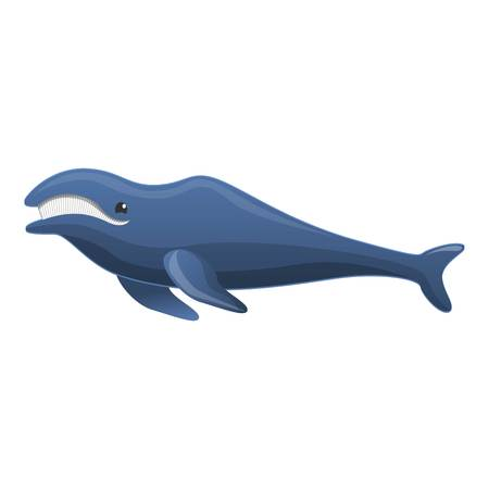 Humpback whale icon. Cartoon of humpback whale icon for web design isolated on white background