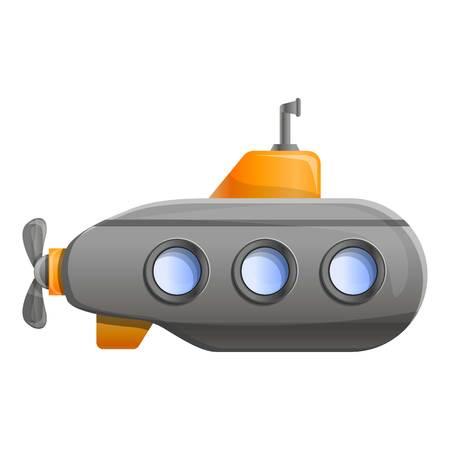 Submarine icon. Cartoon of submarine icon for web design isolated on white background 免版税图像