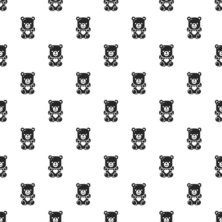Jelly bear pattern seamless repeat background for any web design