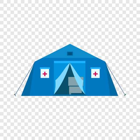 Field hospital icon. Flat illustration of field hospital vector icon for web design