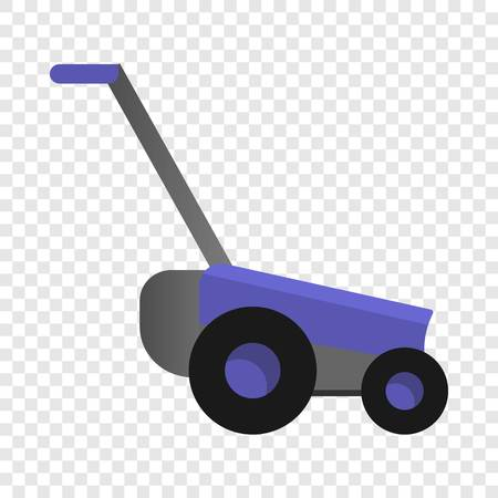 Lawnmower icon. Cartoon of lawnmower vector icon for web design for web design