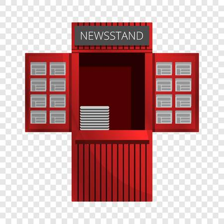 Newspaper kiosk icon. Cartoon of newspaper kiosk vector icon for web design for web design Illustration