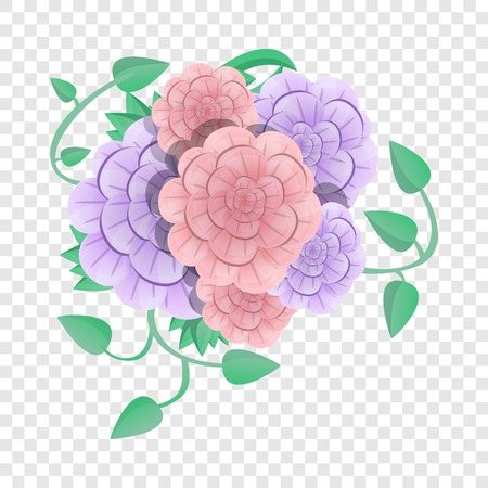 Camellia flower concept background. Cartoon illustration of camellia flower vector concept background for web design