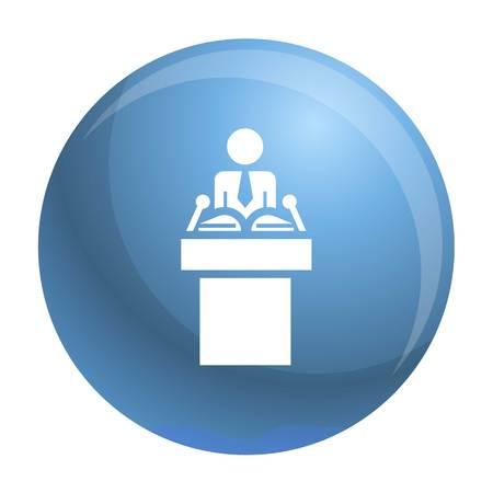 Political speaker icon. Simple illustration of political speaker icon for web design isolated on white background