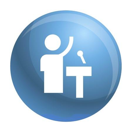 Speaker icon. Simple illustration of speaker icon for web design isolated on white background
