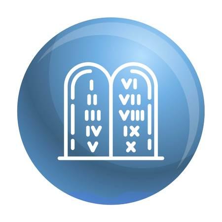 Jewish stones icon. Outline jewish stones icon for web design isolated on white background