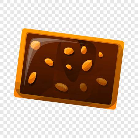 Chocolate nut biscuit icon. Cartoon of chocolate nut biscuit icon for web design Stock Photo