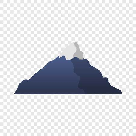 Mountain icon. Cartoon of mountain icon for web design