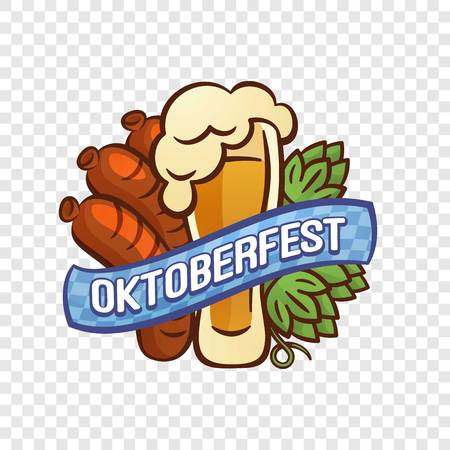 Oktoberfest logo. Cartoon of oktoberfest logo for web design