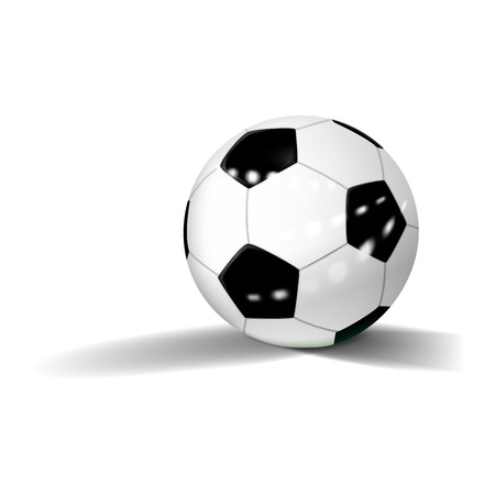 Soccer ball icon. Realistic illustration of soccer ball icon for web design isolated on white background
