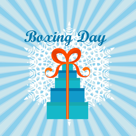 Boxing day concept background. Flat illustration of boxing day concept background for web design Stock Photo