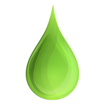 Drop aloe oil icon. Cartoon of drop aloe oil icon for web design isolated on white background Standard-Bild - 114371273