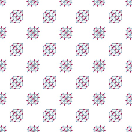 Atomic cube pattern seamless repeat for any web design