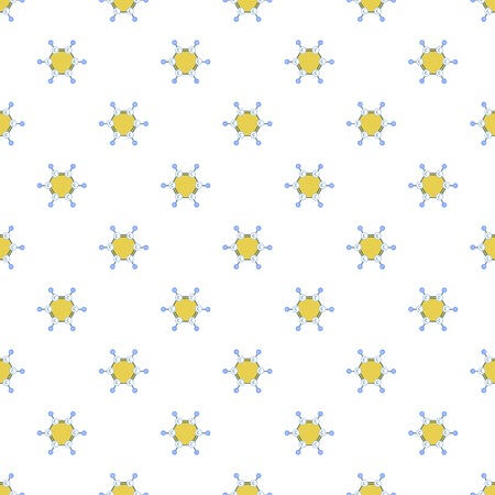 Benzene molecule pattern seamless repeat for any web design