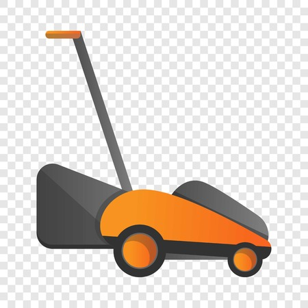 Electric grass cutter icon. Cartoon of electric grass cutter vector icon for web design for web design