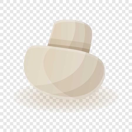 White champignon icon. Cartoon of white champignon vector icon for web design for web design