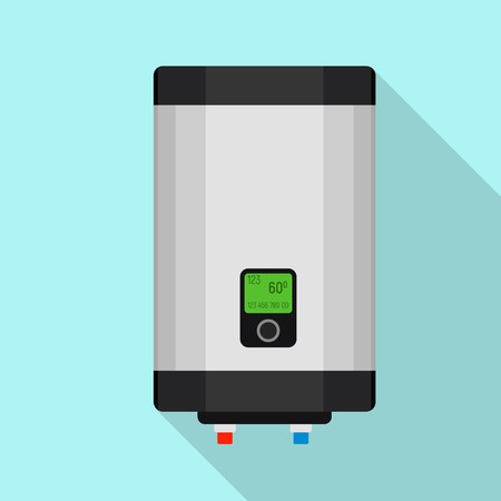 Gas boiler icon. Flat illustration of gas boiler vector icon for web design