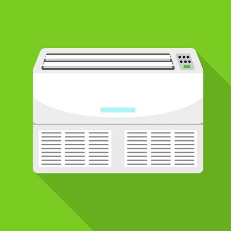 Retro conditioner icon. Flat illustration of retro conditioner vector icon for web design