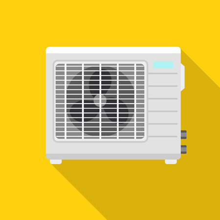 Conditioner fan icon. Flat illustration of conditioner fan vector icon for web design
