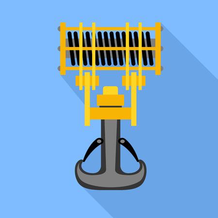 Icono de grúa de gancho industrial. Ilustración plana del icono de vector de grúa de gancho industrial para diseño web Ilustración de vector