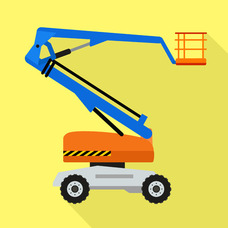 Lift air machine icon. Flat illustration of lift air machine vector icon for web design