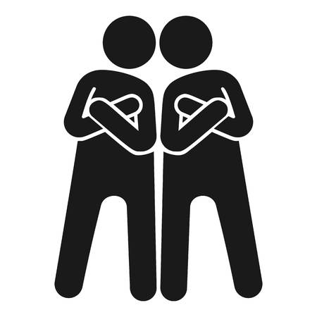 Brotherhood icon. Simple illustration of brotherhood vector icon for web design isolated on white background Illustration