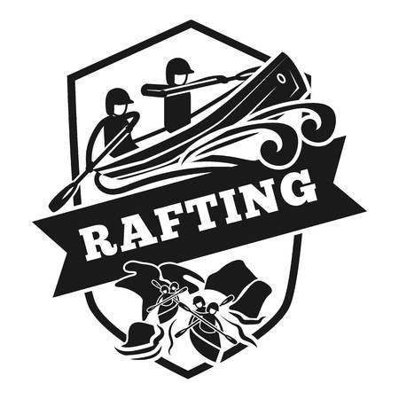 Rafting logo. Simple illustration of rafting vector logo for web design isolated on white background