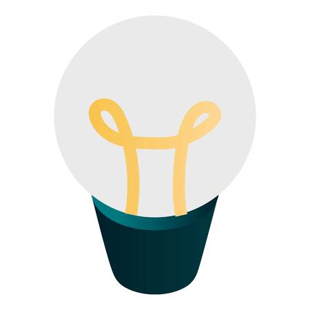 Light bulb icon. Isometric of light bulb vector icon for web design isolated on white background
