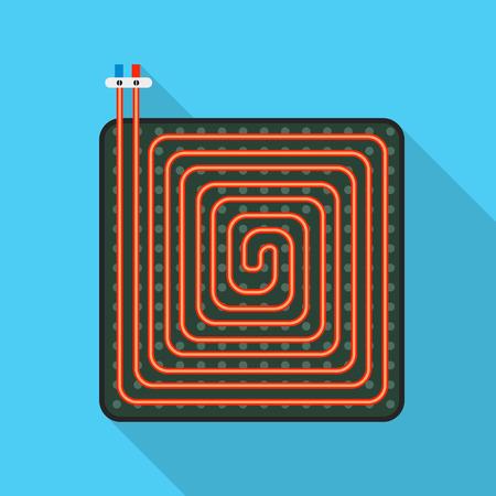 Floor heater scheme icon. Flat illustration of floor heater scheme vector icon for web design