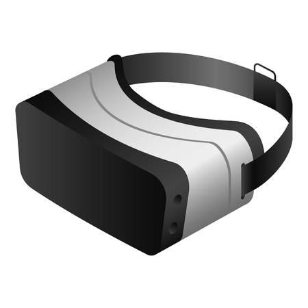 VR-Brille-Headset-Symbol. Isometrische der vr-Brille-Kopfhörer-Vektorikone für das Webdesign lokalisiert auf weißem Hintergrund Vektorgrafik