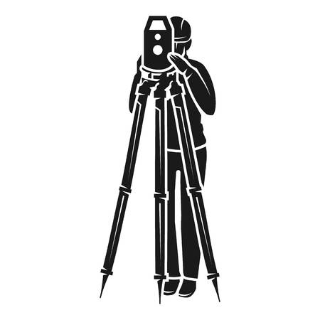 Surveyor view from the front icon. Simple illustration of surveyor view from the front vector icon for web design isolated on white background