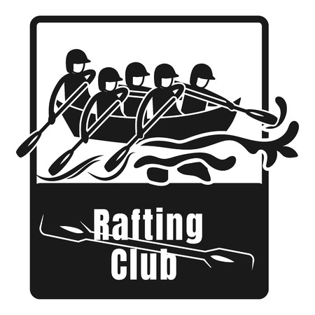 Rafting club logo. Simple illustration of rafting club vector logo for web design isolated on white background
