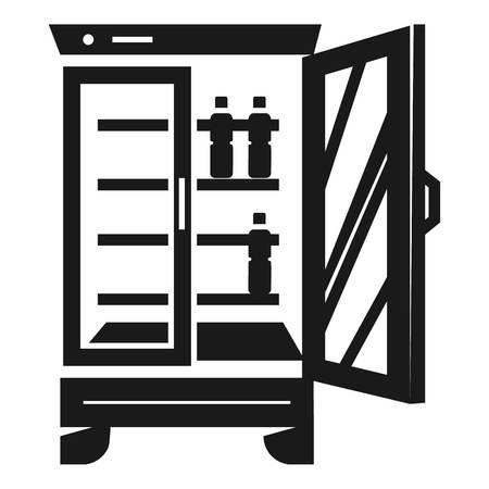 Beverage fridge icon. Simple illustration of beverage fridge vector icon for web design isolated on white background