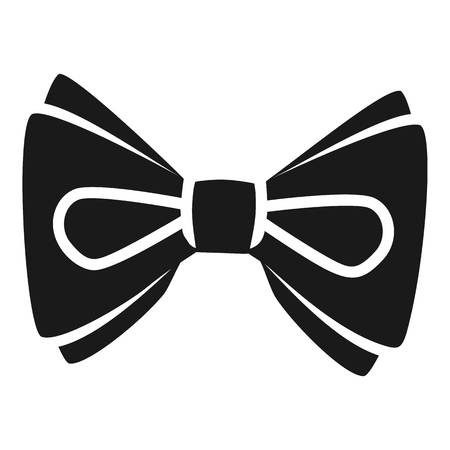 Ribbon bow tie icon. Simple illustration of ribbon bow tie vector icon for web design isolated on white background