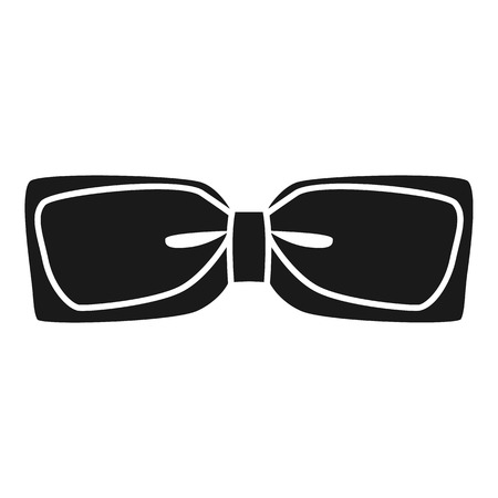 Festive bow tie icon. Simple illustration of festive bow tie vector icon for web design isolated on white background