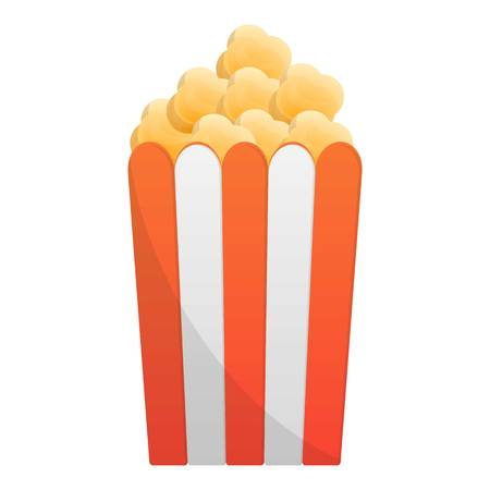 Popcorn box icon. Cartoon of popcorn box vector icon for web design isolated on white background 일러스트