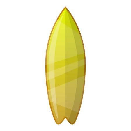 Lime gradient surfboard icon. Cartoon of lime gradient surfboard vector icon for web design isolated on white background Illustration