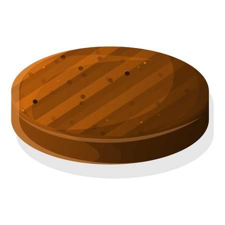 Icône de côtelette de hamburger. Caricature de l'icône vecteur escalope burger pour la conception web isolé sur fond blanc Vecteurs