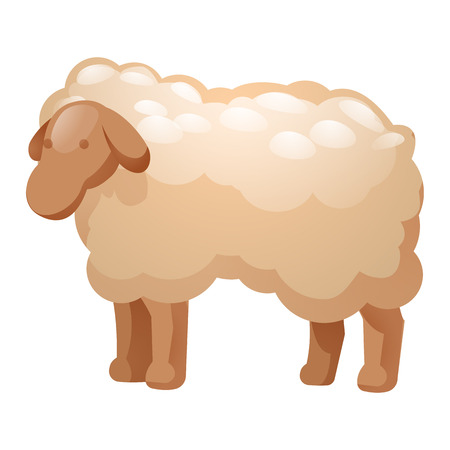 Sheep icon. Cartoon of sheep icon for web design isolated on white background