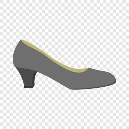 Black woman shoe icon. Flat illustration of black woman shoe icon for web design
